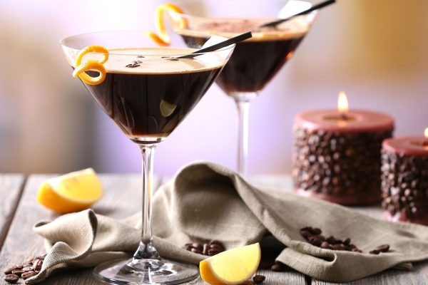 Blood orange espresso martini